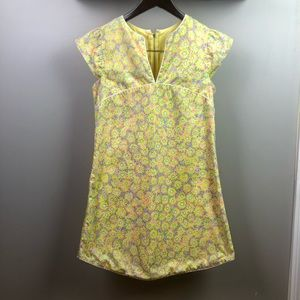 Vintage Lilly Pulitzer Yellow Floral Dress Small